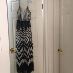 Candie's Striped Maxi Dress